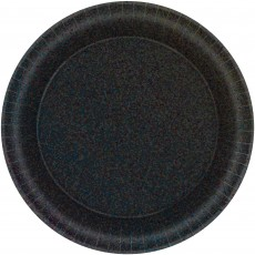 Round Black Prismatic Lunch Plates 17cm Pack of 8