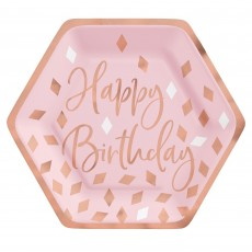Blush Birthday Party Supplies - Lunch Plates