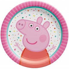 Peppa Pig Confetti Party Lunch Plates