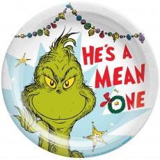 Dr Seuss The Grinch Paper Lunch Plates
