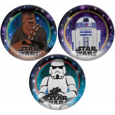 Star Wars Party Supplies - Lunch Plates Galaxy