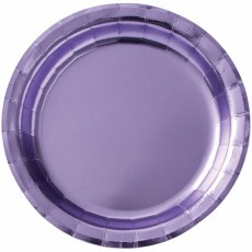 Lavender Party Supplies - Lunch Plates i Metallic Lavender