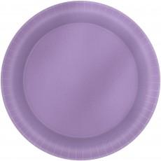 Lavender Party Supplies - Lunch Plates Metallic Lavender