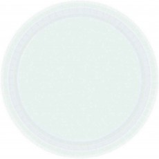 Round Frosty White Paper Dinner Plates 23cm Pack of 8