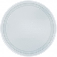 Round Silver Dinner Plates 23cm Pack of 8