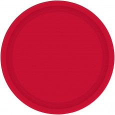 Round Apple Red Paper Dinner Plates 23cm Pack of 8