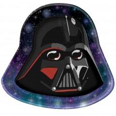 Star Wars Party Supplies - Lunch Plates Galaxy Darth Vader