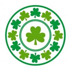 Round St Patrick's day Lucky Shamrocks Dinner Plates 23cm Pack of 8