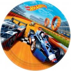 Round Hot Wheels Wild Racer Dinner Plates 23cm Pack of 8
