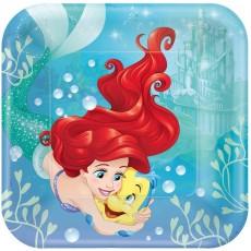 Square The Little Mermaid Ariel Dream Big Dinner Plates 23cm Pack of 8