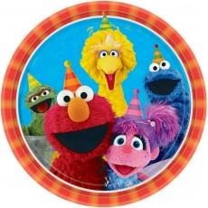 Round Sesame Street Dinner Plates 23cm Pack of 8
