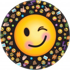 Emoji LOL Smiley Faces Dinner Plates