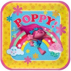 Square Trolls Poppy! Dinner Plates 23cm Pack of 8