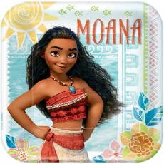 Moana Party Supplies - Dinner Plates