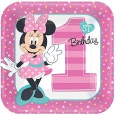 Minnie Mouse 1st Birthday Fun To Be One Dinner Plates
