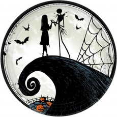 Halloween Nightmare Before Christmas Dinner Plates