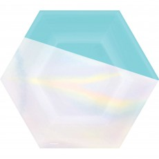 Iridescent Shimmering Party Dinner Plates