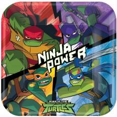 Square Rise of the Teenage Mutant Ninja Turtles Dinner Plates 23cm Pack of 8