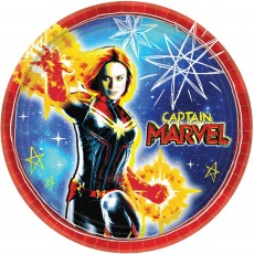 Captain Marvel Dinner Plates