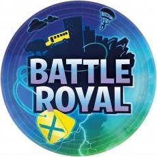 Round Battle Royal Paper Dinner Plates 23cm Pack of 8