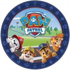 Round Paw Patrol Adv Dinner Plates 23cm Pack of 8