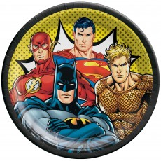 Justice League Party Supplies - Dinner Plates Heroes Unite