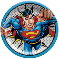 Justice League Party Supplies - Dinner Plates Heroes Unite Superman