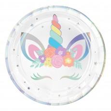 Unicorn Fantasy Unicorn Party Iridescent Dinner Plates
