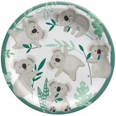 Koala Paper Dinner Plates