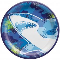 Shark Splash Party Supplies - Dinner Plates