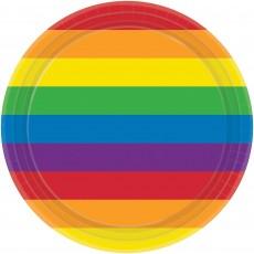 Rainbow Dinner Plates