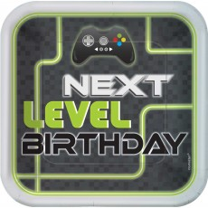 Level Up Gaming Party Supplies - Dinner Plates Next Level