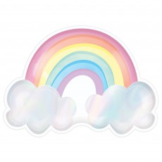 Magical Rainbow Iridescent Paper Dinner Plates
