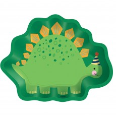 Dinosaur Dino-Mite Shaped Lunch Plates