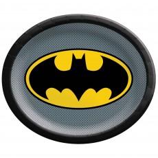 Batman Party Supplies - Banquet Plates Heroes Unite Shaped