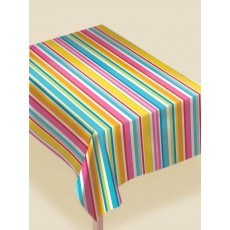 Stripes Flannel-Backed Vinyl Table Cover