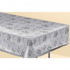 Clear Happy New Year! Plastic Table Cover 137cm x 274cm