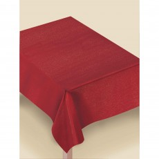 Red Luxury Metalic Fabric Table Cover