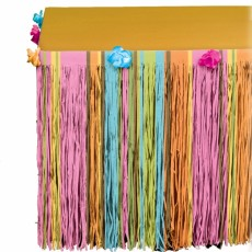 Hawaiian Multi Coloured Totally Tiki & Flowers Table Skirt