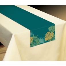 Key West Palm Leaves Table Runner 33cm x 182cm