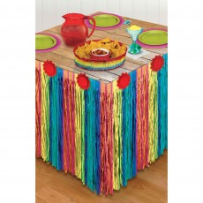 Mexican Fiesta Striped Paper Table Skirt 3m x 73cm
