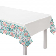 Boho Vibes Fabric Table Cover 152cm x 164cm