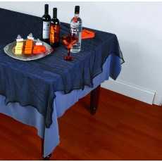 Black Fabric Cheesecloth Table Cover