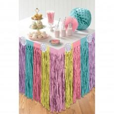 Magical Unicorn Party Supplies - Table Skirt Enchanted Unicorn
