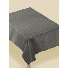 Silver Luxury Metallic Fabric Table Cover