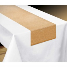 Gold Luxury Metallic Fabric Table Runner
