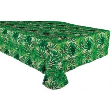 Hawaiian Luau Island Palms Flannel-Backed Vinyl Table Cover