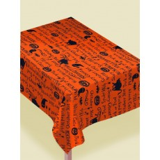 Halloween Wicked Words Table Cover