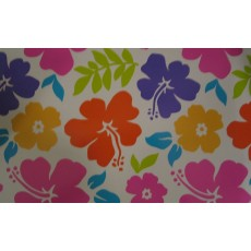 Hawaiian Luau Summer Hibiscus Plastic Table Cover