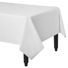 White Frosty Plastic Lined Table Cover